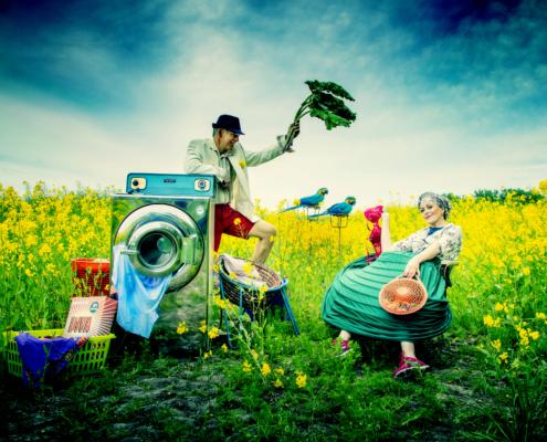 """Krona Vaskeriet"" - Soap Opera in a time of Corona. Fotograf Jeanette Philipsen"